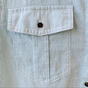 Patagonia Tops - Patagonia stripe button down green and white S
